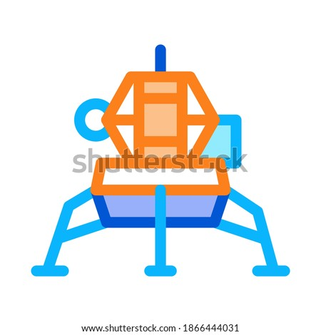 Manned Spacecraft Icon Outline Illustration Stock photo © pikepicture