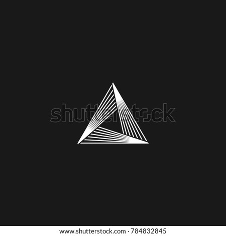 Proste trójkąt projektowanie logo nowoczesny styl technologii działalności Zdjęcia stock © kyryloff