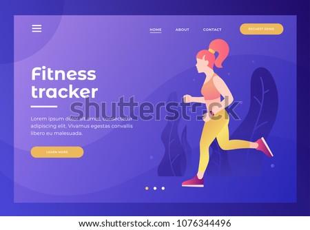 Outdoor workout concept landing page. Stock photo © RAStudio