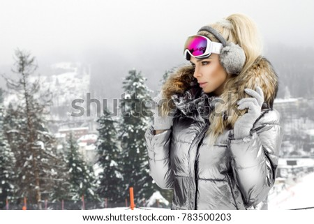 sexy woman in mountain stock photo © konradbak