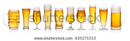 ビール ガラス 3  新鮮な 琥珀 ストックフォト © tab62