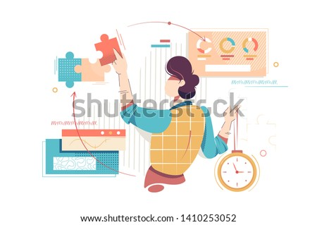 Business execution concept Stock photo © raywoo