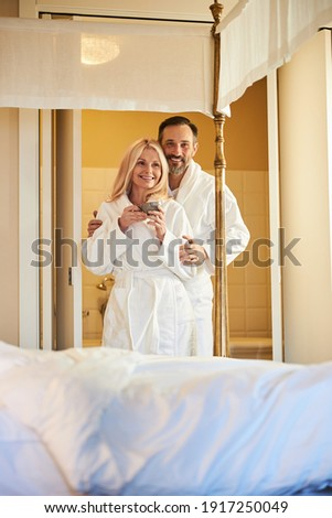 Couple dressed in bath robes Stock photo © photography33