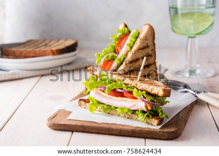 Ham and tomato sandwich Stock photo © raphotos