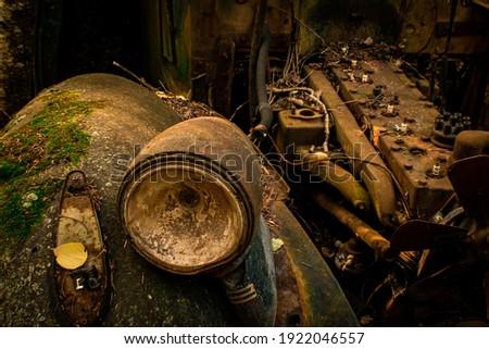 Antik elhagyatott autó tél Kanada Stock fotó © pictureguy