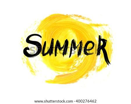 Absztrakt szó nyár grunge textúra tengerpart égbolt Stock fotó © fotoscool