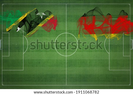 Germany and Saint Kitts and Nevis Flags Stock photo © Istanbul2009