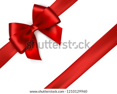 present box with red ribbon bow isolated on white stock photo © tetkoren