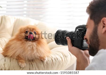 Erkek fotoğrafçı resim portre yakışıklı adam Stok fotoğraf © artfotodima