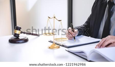 Bíró kalapács igazság ügyvédek üzletember öltöny Stock fotó © Freedomz