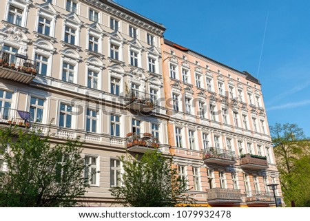 Colorful refurbished old buildings Stock photo © elxeneize