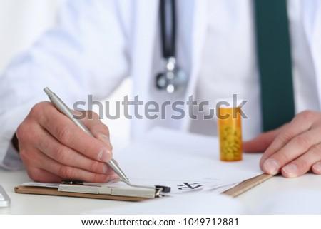 doctor prescribes a prescription Stock photo © ra2studio