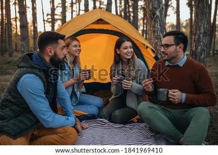 A couple in front of their tent Stock photo © photography33