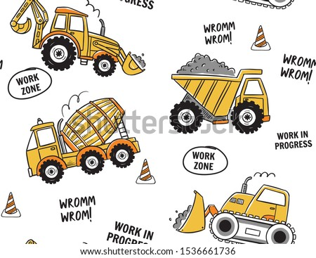 Illustration of digger Stock photo © perysty