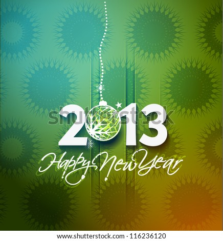 colorful 2013 new year celebration background with glitter and rainbow colours stock photo © davidarts