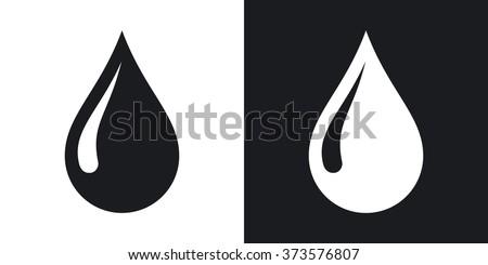 water drop icon Stock photo © djdarkflower