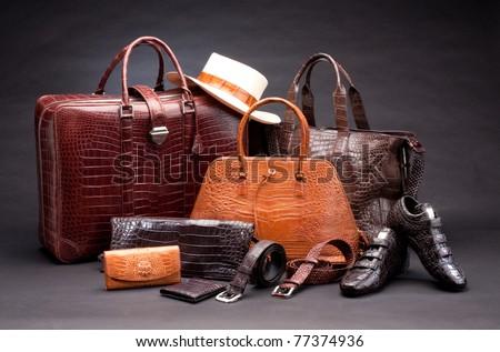 Moderno feito à mão produto moda couro elegante Foto stock © zurijeta