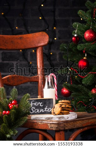 Milk in bottle on old rustic chair Stock photo © furmanphoto