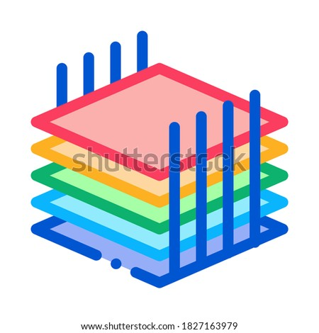 building sheets for home icon vector outline illustration Stock photo © pikepicture