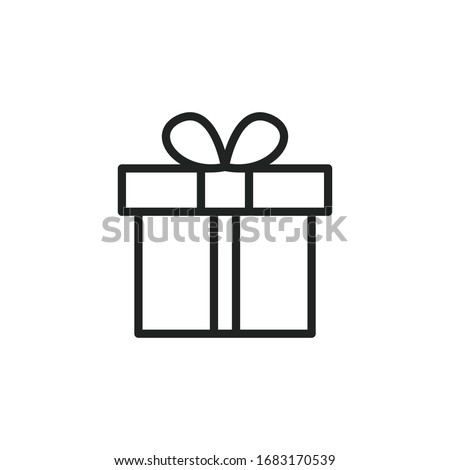 Ajándék ajándék meglepetés vektor egyszerű skicc Stock fotó © karetniy