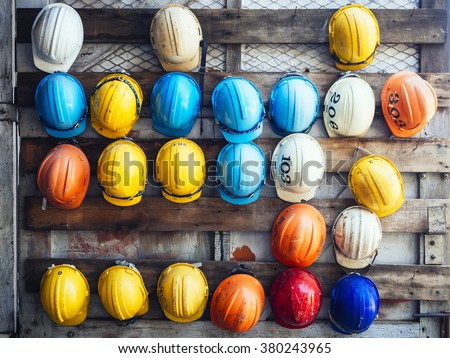 Workers with safety helmet Stock photo © olira