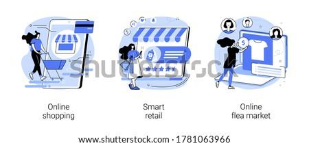 Mobiele winkelen vector metafoor moderne online Stockfoto © RAStudio