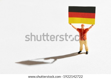 Germany supporter holding miniature flags Stock photo © photography33