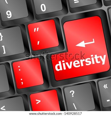 A Computer Keyboard With Blue Keys Spelling Diversity Learn Сток-фото © fotoscool