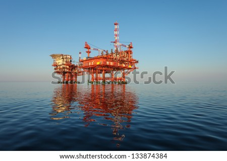 olaj · part · california · tenger · kék · ipar - stock fotó © elnur