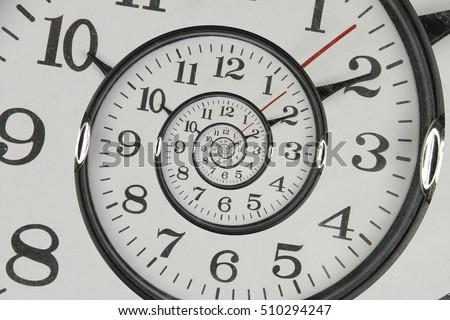 Droste effect of clock  Stock photo © smuki