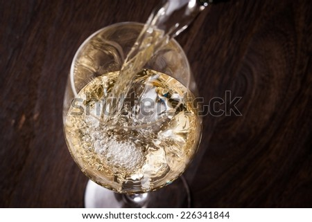 wine glass in white back Stock photo © prill