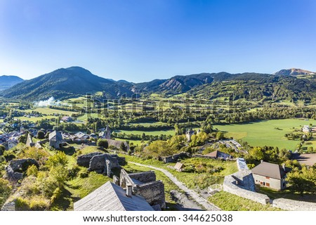seyne les alpes in the french region provence des haut alpes stock photo © meinzahn