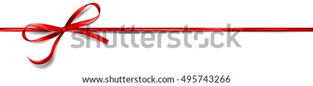 Red ribbon and bow Stock photo © mblach
