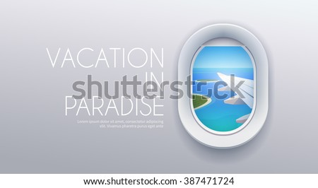 Vector Tropic Travel Concept Stock photo © dashadima
