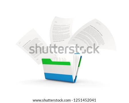 folder with flag of sierra leone stock photo © mikhailmishchenko