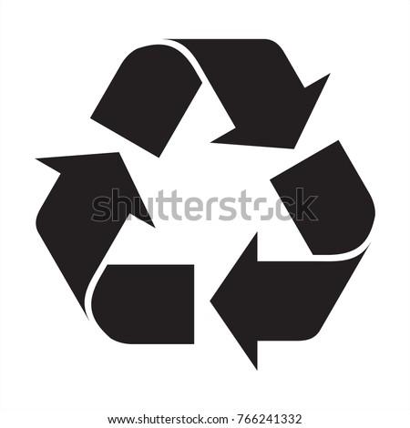 Recycle вектора икона изображение объект графических Сток-фото © smoki