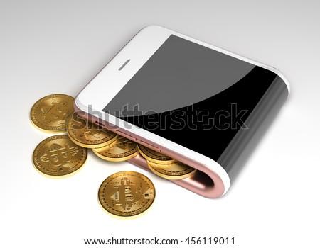 Bitcoin commerce argent partout dans le monde paiement Photo stock © JanPietruszka