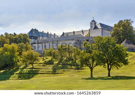 Cerveny Kamen Castle Slovakia Stockfoto © Borisb17