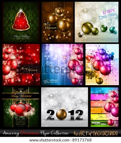 amazing collection of christmas flyers stock photo © davidarts