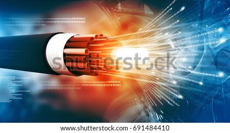 Сток-фото: волокно · оптика · свет · Места · компьютер · аннотация