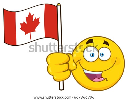 Human Head In Canada Flag - Happy Canada Day Stok fotoğraf © HitToon