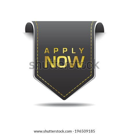Apply Now golden Vector Icon Design Stock photo © rizwanali3d