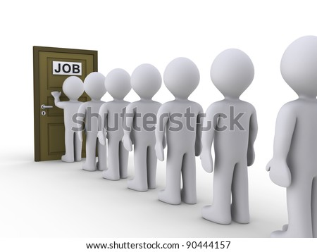 3d White People Waiting For Job Interview Photo stock © 6kor3dos