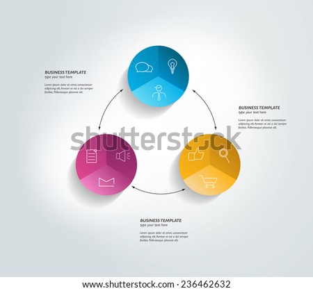 Relations diagram flat yellow color rounded vector icon Stock photo © ahasoft