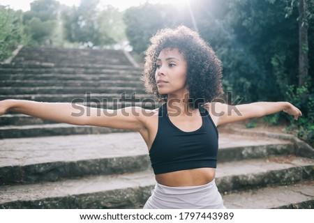 Сток-фото: молодые · тонкий · женщину · йога · парка