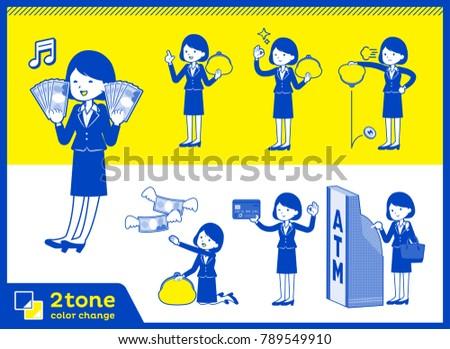 2tone type suit business women_set 11 Stock photo © toyotoyo