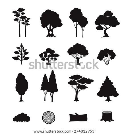 Logs of Trees Icon. Stock photo © smoki