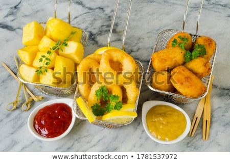 spanish squid rings and croquettes Stock photo © nito