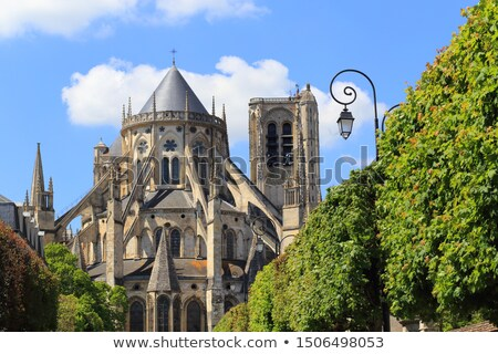 Apse of the Cathedral Saint-Etienne of Bourges in the spring Stock photo © tilo