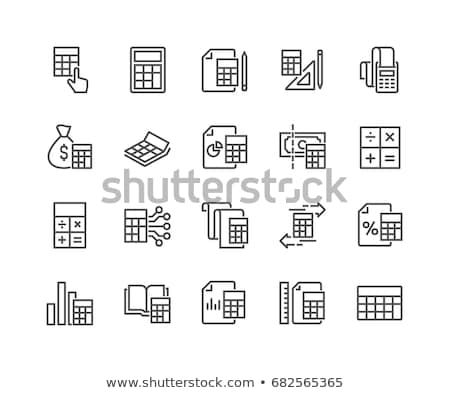 Calculator icon internet school ontwerp potlood Stockfoto © Mark01987